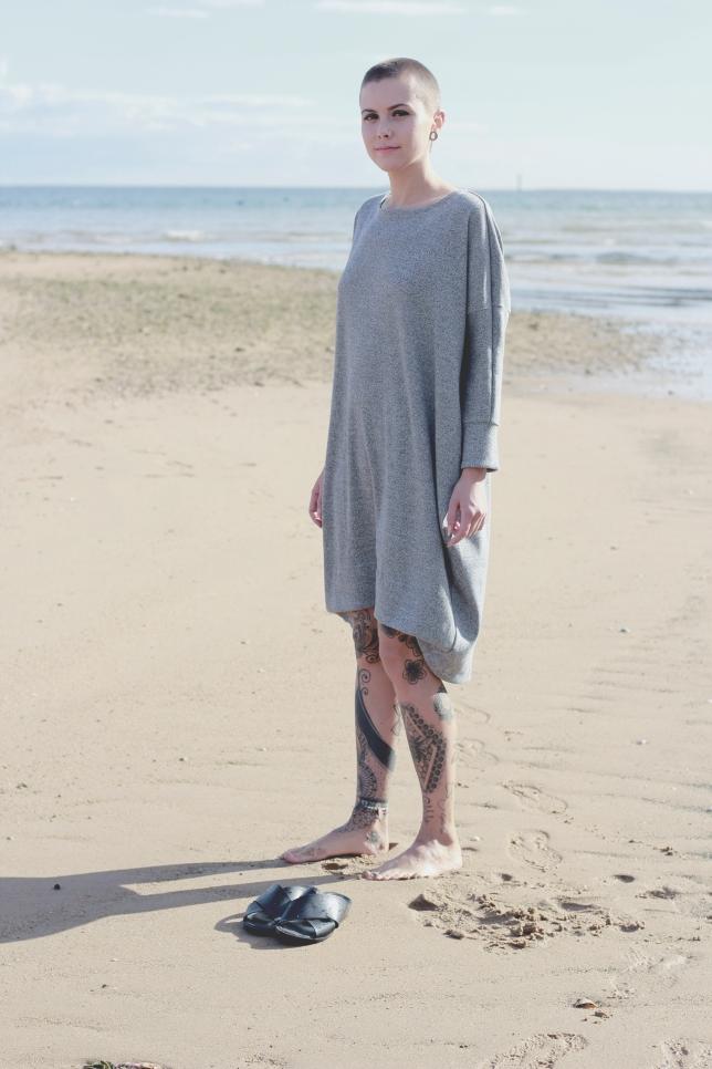 Dress Midi Grey melange 1