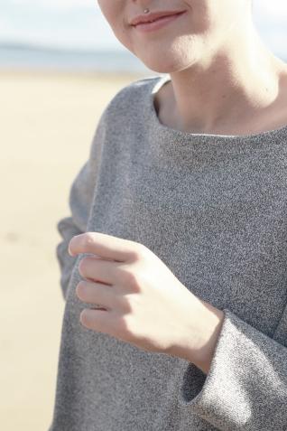 Dress Midi Grey melange 2