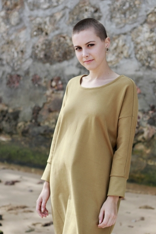 Dress Minimal Mustard 1