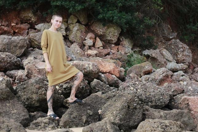 Dress Minimal Mustard 7