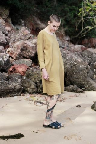 Dress Minimal Mustard 8