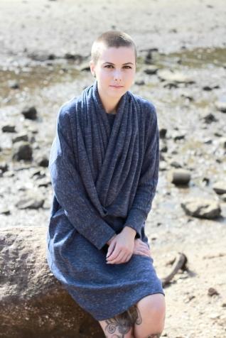Dress Straith Blue melange 1