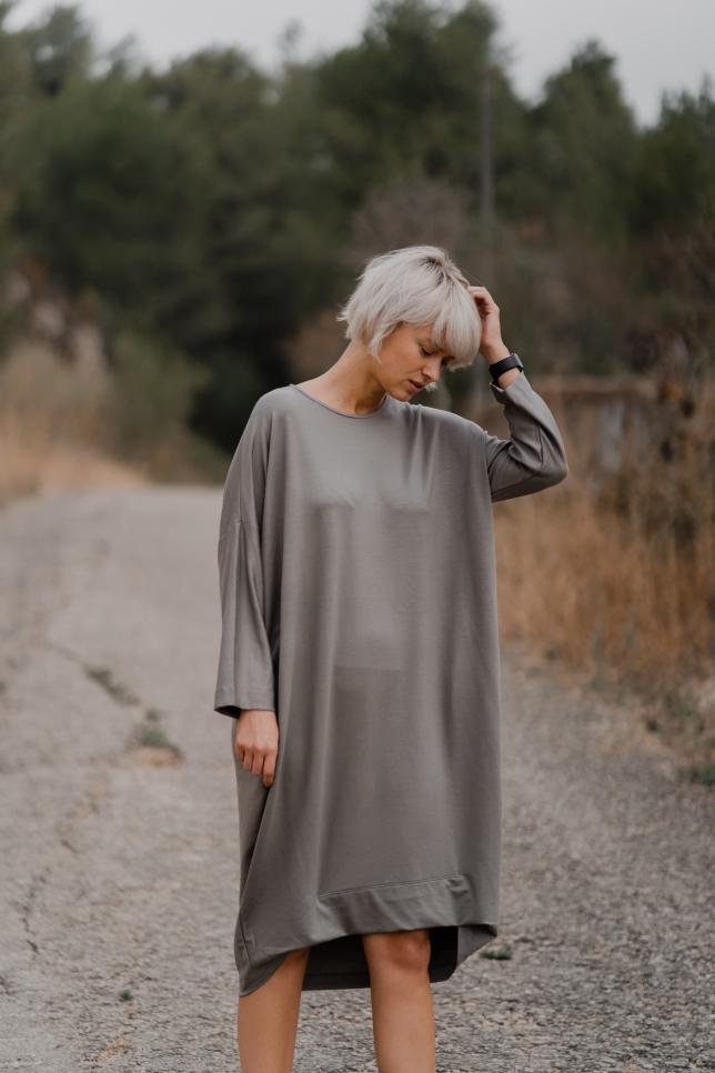 Dress Midi Taupe