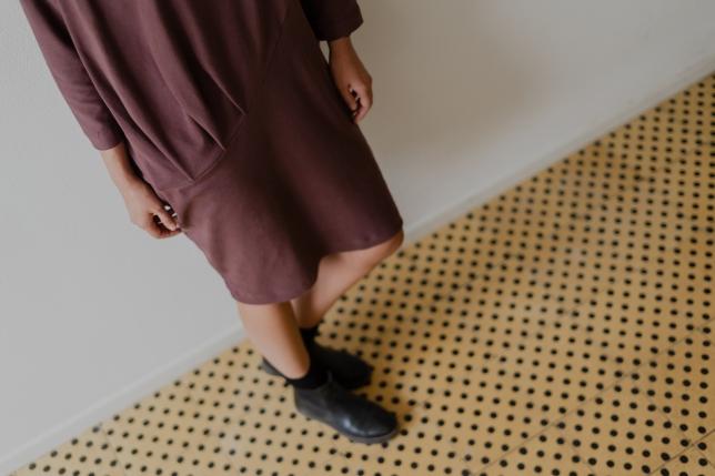 Dress draped Bordeaux